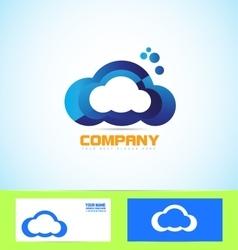 Cloud logo icon computing technology concept vector