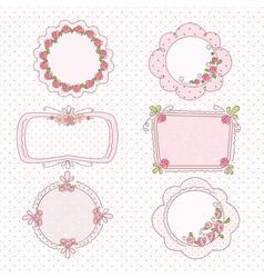 Doodle vintage frames vector image vector image