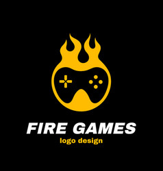 fire games icon vector image vector image