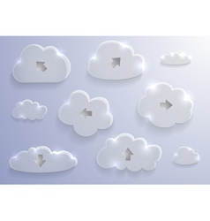 Glass cloud collection vector image