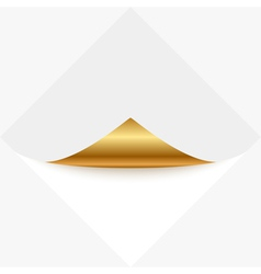 gold memo vector image