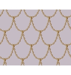 Golden chain seamless pattern on pale pink vector