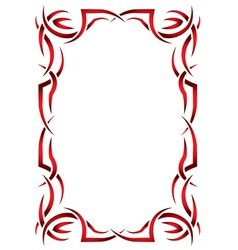 Gothic vertical frame on a white background tribal vector