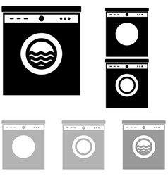 grey and black washer on the white background vector image vector image