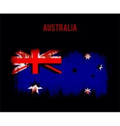 Grunge australian flag vector