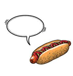 hotdog-100 vector image