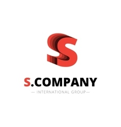 isometric layered S letter logo Company vector image vector image