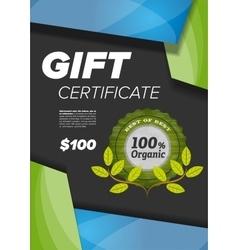 modern Certificate design vector image