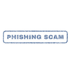 Phishing scam textile stamp vector