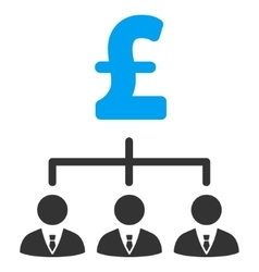 Pound banker links flat icon symbol vector