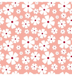 Seamless pattern with flowers on a pink background vector image