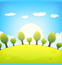 spring or summer cartoon landscape vector image