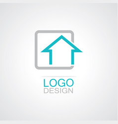 square home logo vector image vector image