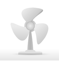 steel fan on white background vector image vector image
