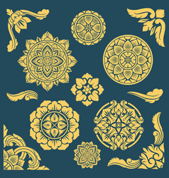 Thai indian and persian ethnic decorative vector