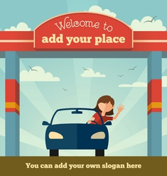 Welcome to sign concept vector