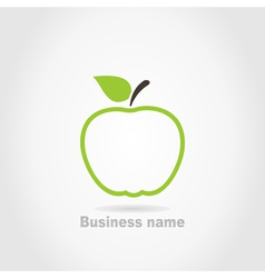 Apple business name background vector