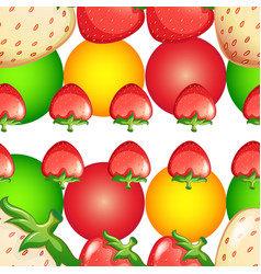 Seamless background design with strawberries and vector