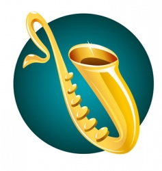 Saxaphone background vector