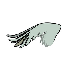 Drawing wing feather animal icon vector