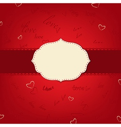 Retro love greeting card vector