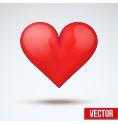 Beautiful bright red heart vector
