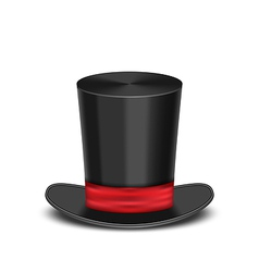 Magic cylinder hat with shadow isolated on white vector image