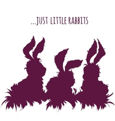 Set of cartoon cute rabbits vector