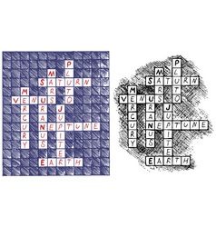 Crosswords vector image