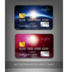 template credit cards with modern design space vector image