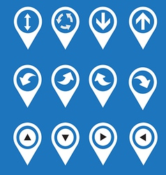 Navigation icons arrows vector