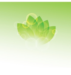Summer branch with fresh green leaves and vector image