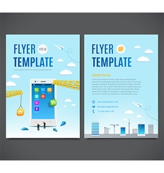 Construction white smartphone software mobile app vector