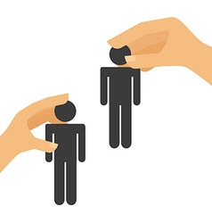collaborative people design vector image