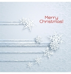 Snowflakes holiday frame vector