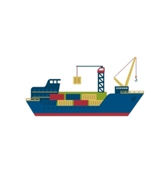 Tanker cargo ship with containers vector