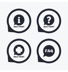 Help point icons question information symbol vector