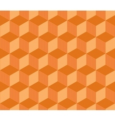 Abstract orange striped 3d cubes geometric vector