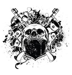 vintage emblem with skull vector image