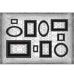 Frames on ornamental grunge background vector
