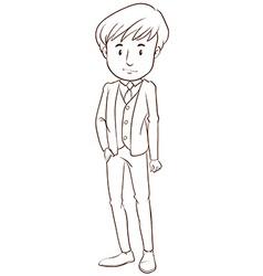 A boy in a formal attire vector