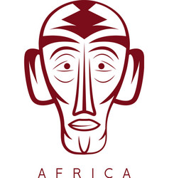 African ethnic culture mask design template vector