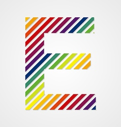 Alphabet letter e vector