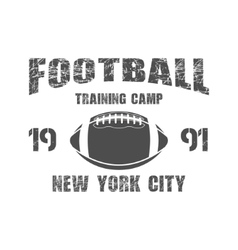 American football new york training camp badge vector