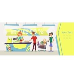 Banner For Supermarket vector image