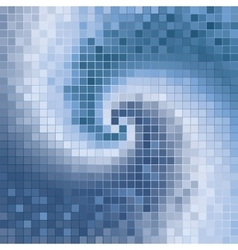 blue abstract spirals mosaic vector image