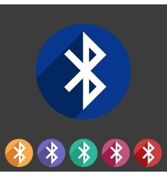Bluetooth connection icon flat web sign symbol vector