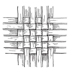Checker work basket weave the simplest form of vector