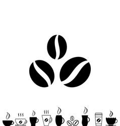 coffee cup black icon vector image vector image