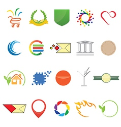 Different elements for logo and web vector